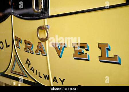 Old railway carriage at the National Railway Museum York North Yorkshire England UK United Kingdom GB Great Britain - Stock Photo