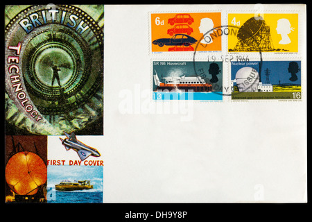 1966 First Day Cover celebrating British Technology - Stock Photo