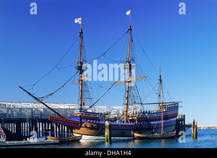 Mayflower II, Plymouth, Massachusetts, USA. - Stock Photo
