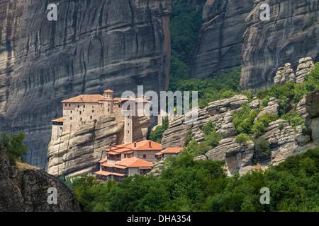 The Holy Monastery of Rousanou, St. Barbara, Meteora area ...