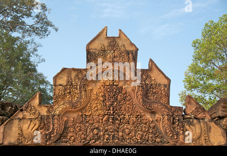 Banteay Srei temple Cambodia - Stock Photo