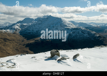 Ladhar Bheinn from Beinn na Caillich, Knoydart, Highland region, Scotland, UK - Stock Photo