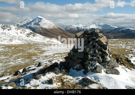 Ladhar Bheinn from the Meall Coire an t-Searraich top of Beinn na Caillich, Knoydart, Highland region, Scotland, - Stock Photo