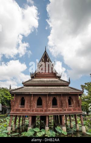 Wooden Pavilion. - Stock Photo