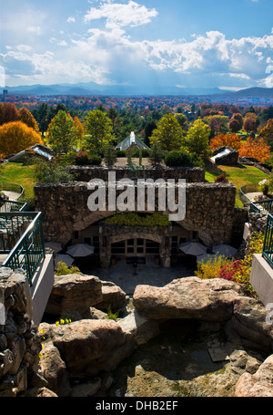 Autumn view from behind the Grove Park Inn Asheville North Carolina - Stock Photo