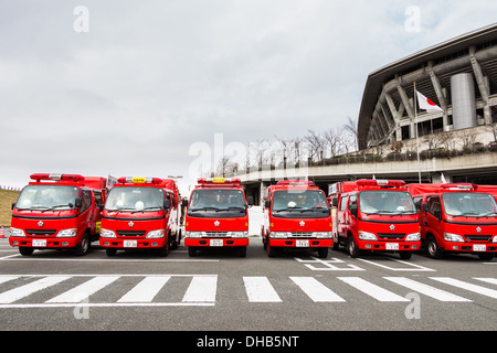 The New Year's Fire Review Kanagawa, Japan - Stock Photo