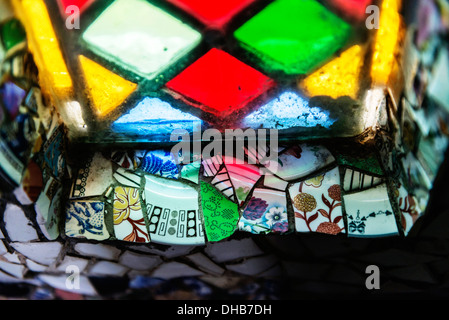 Little Chapel - Broken pottery decorated small church Les Vauxbelets, ST MARTIN, GUERNSEY - Stock Photo