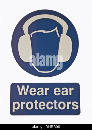 Ear Protectors Safety Sign - Stock Photo