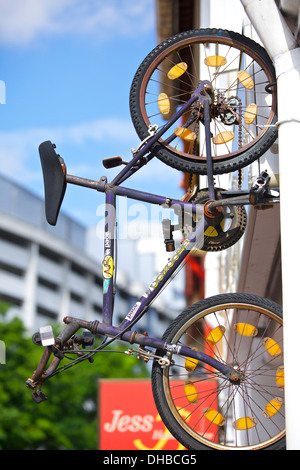 Quirky Bike Shop Front on North Bridge Road, Singapore. - Stock Photo