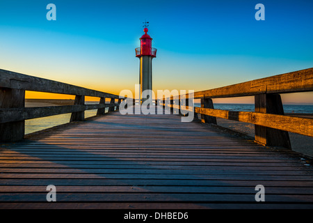 Lighthouse.  Trouville sur Mer lighthouse. France Normandie - Stock Photo