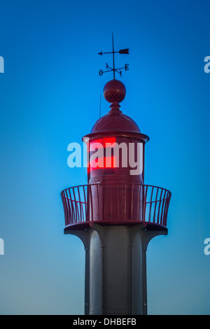 Lighthouse.  Trouville sur Mer lighthouse. Normandy. France - Stock Photo