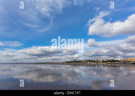 12/10/2013 View from Southend pier of Southend-On-Sea and Westcliff-On-Sea. - Stock Photo