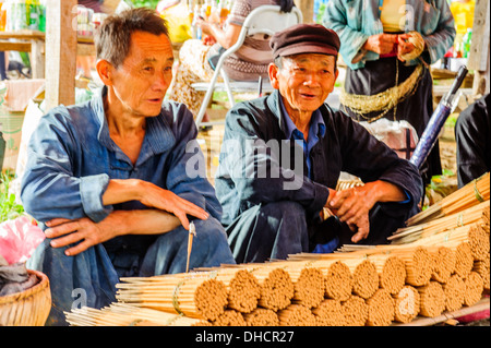 Dong Van Market - Stock Photo