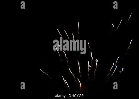 Lewes, Sussex. Bonfire Night November 5th 2013. Firework display. - Stock Photo