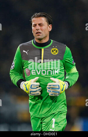 Dortmund, Germany. 6th November 2013. UEFA Champions League , Matchday 4 , Borussia Dortmund  - Arsenal FC   0-1 - Stock Photo