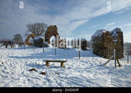 A winter scene from Surlingham, Norfolk - Stock Photo