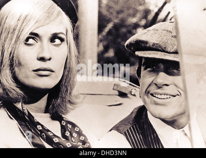 faye dunaway and warren beatty,bonnie and clyde - Stock Photo
