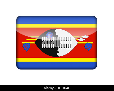 The Swaziland flag - Stock Photo