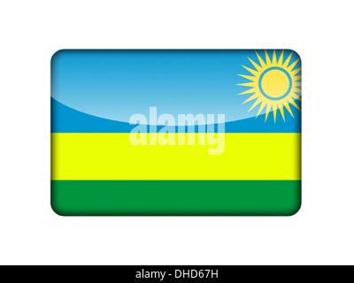 The Rwanda flag - Stock Photo