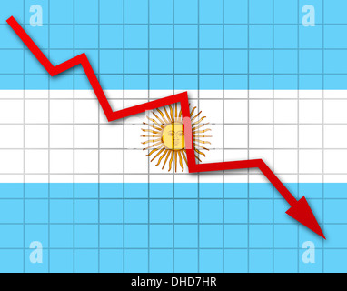 The Argentine flag - Stock Photo