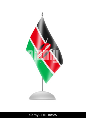 The Kenyan flag - Stock Photo