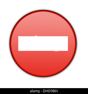 Illustration of a traffic sign - No Entry. - Stock Photo