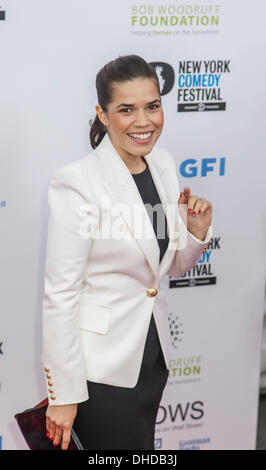 New York, USA. 6th November 2013. Actress America Ferrera attends the 7th annual 'Stand Up For Heroes' event at - Stock Photo