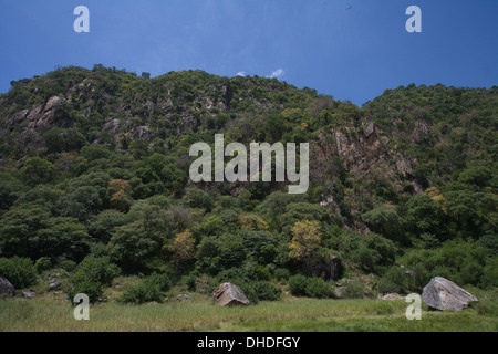 Wall of Great Rift Valley. Lake Manyara National Park. Tanzania, Africa. - Stock Photo