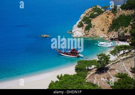 Apella Beach, Karpathos island, Dodecanese, Greek Islands, Greece, Europe - Stock Photo