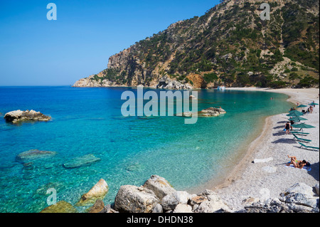 Apella Beach, Karpathos island, Dodecanese, Greek Islands, Greece, Europe - Stock Photo