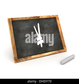 A Colourful 3d Rendered Illustration of a Blackboard showing a Yen Sign - Stock Photo