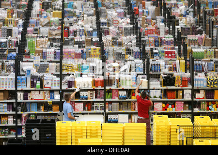 Amazon fulfilment centre (warehouse)  in Peterborough Cambridgeshire - Stock Photo
