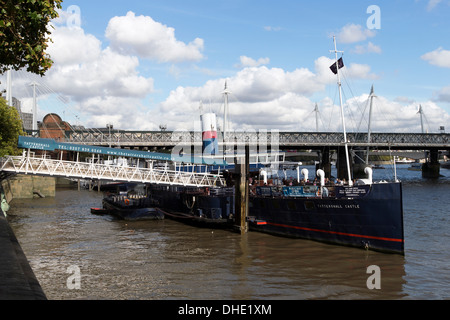 PS Tattershall Castle a 1934 ferry moored on the River Thames, Embankment, now used as a floating restaurant. & - Stock Photo