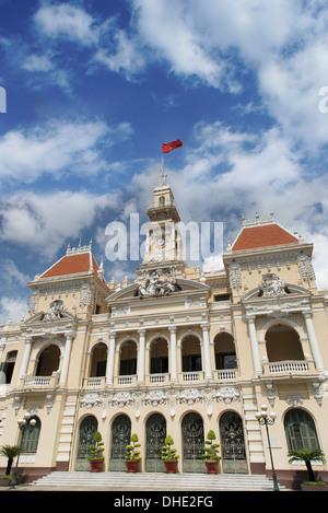 City Hall of Ho Chi Minh in Ho Chi Minh City, Vietnam. - Stock Photo