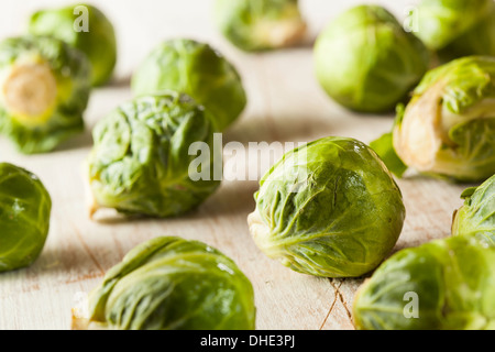 Organic Green Brussel Sprouts Ready to Cook - Stock Photo