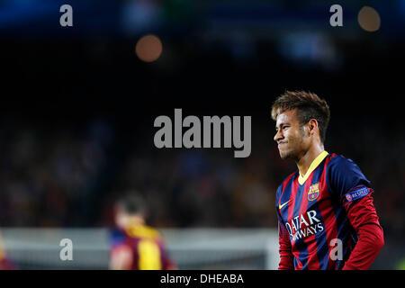 Barcelona, Spain. © D. 6th Nov, 2013. Neymar (Barcelona) Football / Soccer : UEFA Champions League Group H match - Stock Photo