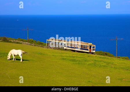 Manx Electric Railway, Isle of Man, Europe - Stock Photo