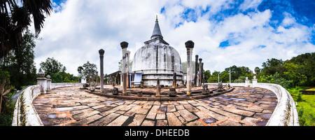 Lankarama Dagoba, Anuradhapura, UNESCO World Heritage Site, Sri Lanka, Asia - Stock Photo