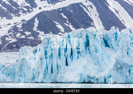 Glacier face at Monacobreen, Spitsbergen, Svalbard, Norway, Scandinavia, Europe