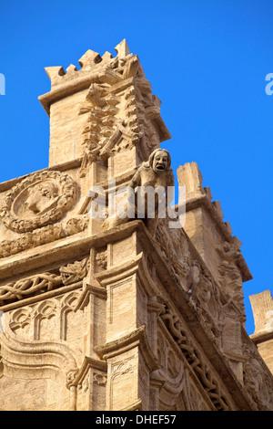 Detail of La Lonja de la Seda, Valencia, Spain, Europe - Stock Photo