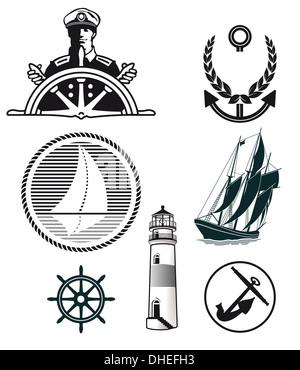 maritime mark - Stock Photo
