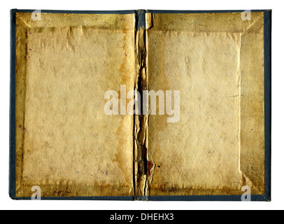 Empty Pages of Old book isolated - Stock Photo
