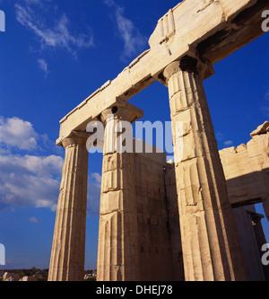 Propylaea, Acropolis, Athens, Greece - Stock Photo