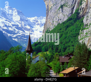 Lauterbrunnen, Jungfrau Region, Switzerland - Stock Photo