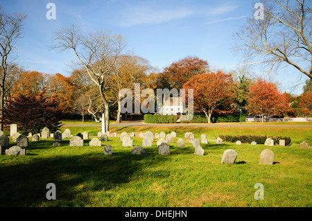 Cemetery, East Hampton, The Hamptons, Long Island, New York State, United States of America, North America - Stock Photo