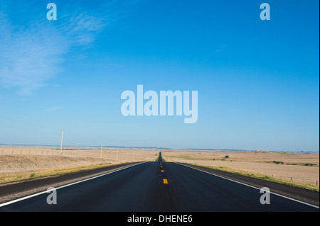 Route two through Nebraska, United States of America, North America - Stock Photo
