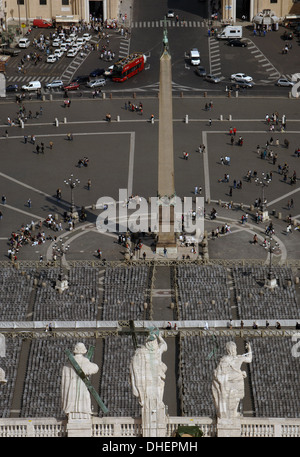 Vatican City. St. Peter's Square from the dome. - Stock Photo