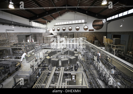 Machinery in a brewery - Stock Photo