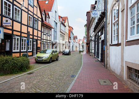 Historic center, Hameln, Lower Saxony, Germany, Europe, - Stock Photo