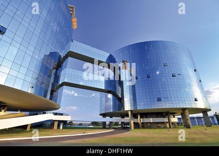 Brazil, Brasilia, General Prosecution Department of the Federal Republic of Brazil, building, architecture, Oscar - Stock Photo